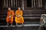 Monks in Cambodia.
